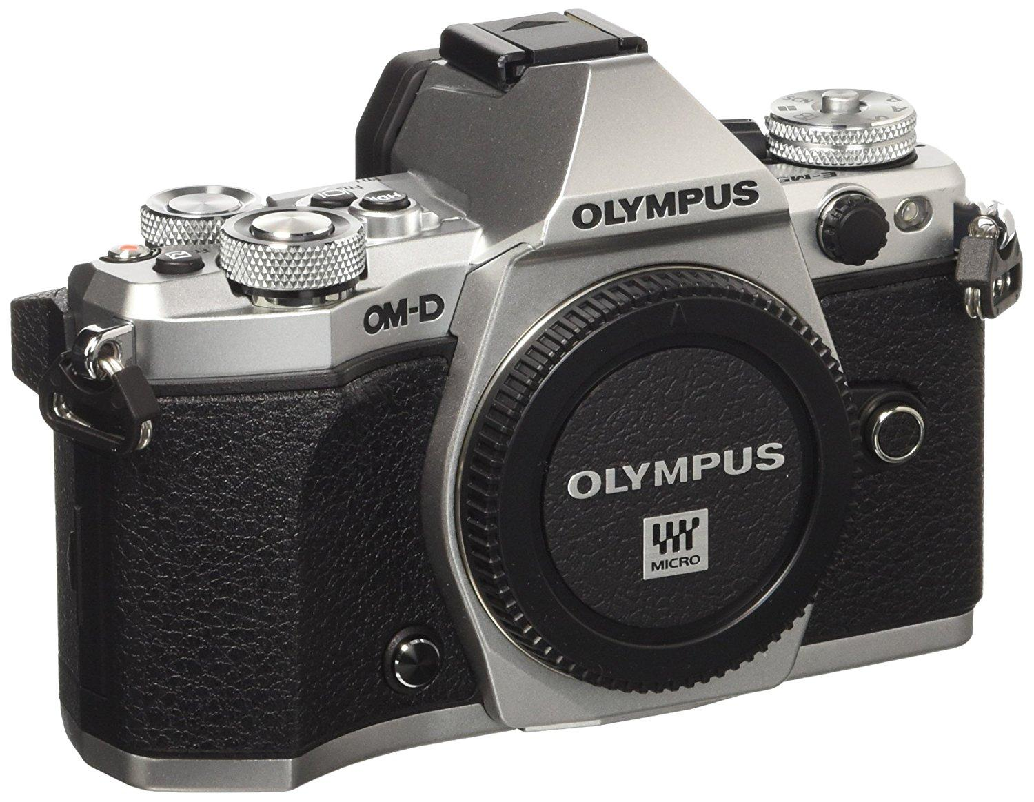 olympus om d e m5 mark ii camera body silver. Black Bedroom Furniture Sets. Home Design Ideas