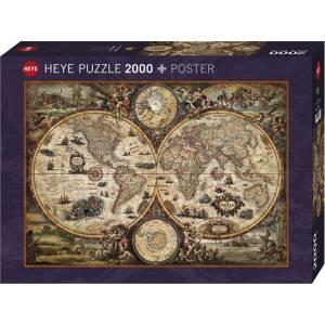 HEYE 29666 World - Χάρτης παλιού κόσμου Puzzle (2000 pcs)