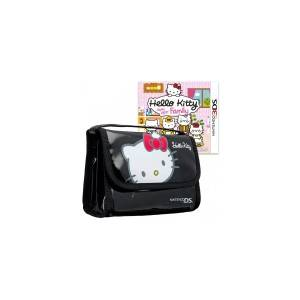 3DS HELLO KITTY HAPPY HAPPY FAMILY + CARRYING BAG BLACK (NINTENDO 3DS)