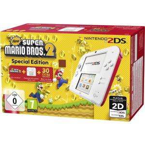 NINTENDO 2DS CONSOLE WHITE & RED + NEW SUPER MARIO BROS. 2 (PRE-INSTALLED) (NINTENDO 2DS)