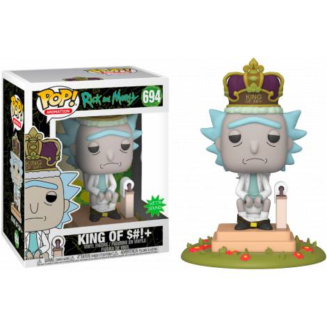 Funko POP! Animation: Rick & Morty - King of $#!+ w/Sound # Electronic Vinyl Figure