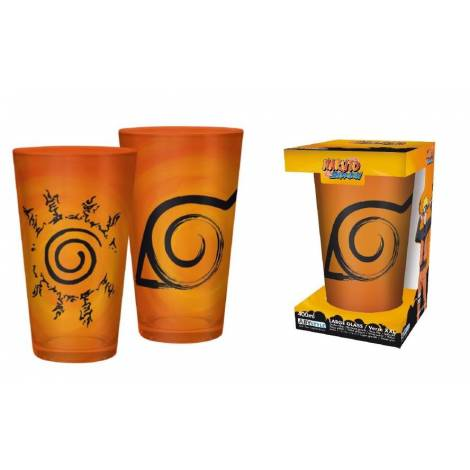 Abysse Naruto Shippuden - Konoha & Seal Symbol 400ml Large Glass (ABYVER137)