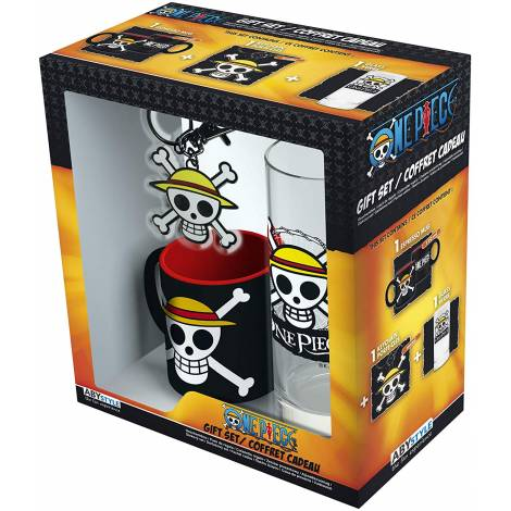 Abysse One Piece - Skull Luffy Water Glass + Keychain + Mini Mug Giftset (ABYPCK153)