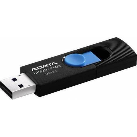 ADATA AUV320 (USB 3.1) FLASH DRIVE 64GB BLACK-BLUE
