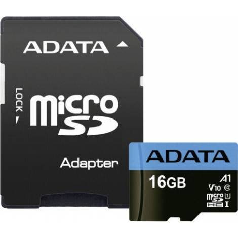 ADATA MICRO SD HC 16GB UHS-I CLASS10 85 with ADAPTER (AUSDH16GUICL10 85-RA1)