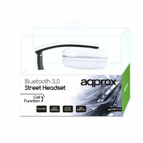 Ακουστικό APPHSBT01W Bluetooth με ενσωματωμένο μικρόφωνο Approx White - με χτυπημένο κουτάκι