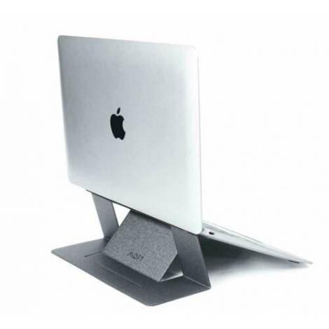 Allocacoc Adhesive Foldable Laptop Stand Silver