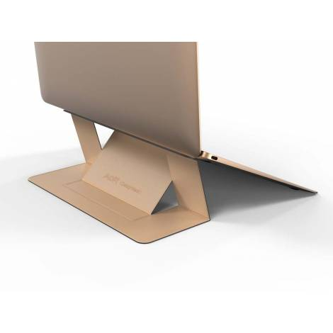 Allocacoc Adhesive Foldable Laptop Stand Gold