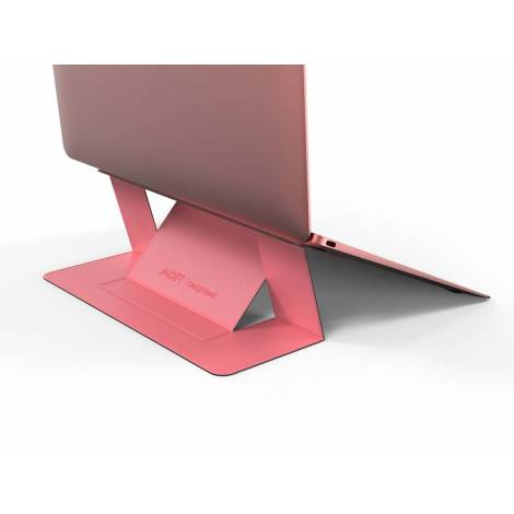 Allocacoc Adhesive Foldable Laptop Stand Pink