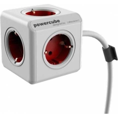 Allocacoc PowerCube Extended 3m Κόκκινο