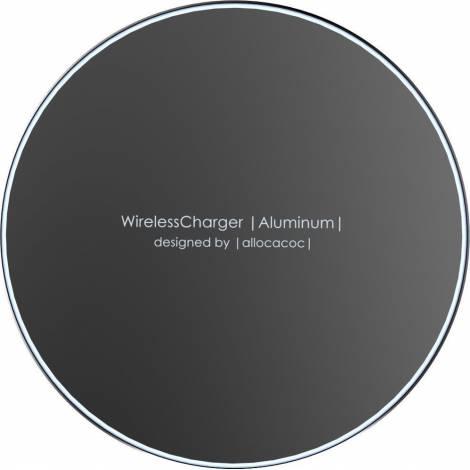 Allocacoc Wireless Charging Pad (Qi) Μαύρο (Aluminium 10W)