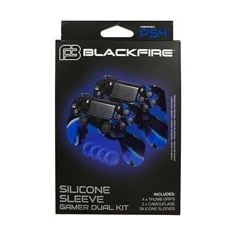 Ardistel Blackfire Silicone Sleeve x2 & x4 Thumb Grips - Black & Blue (PS4)