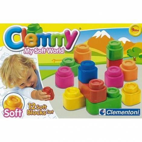 AS Company Clementoni Baby Clemmy 12 Soft Blocks Set (1033-14706)