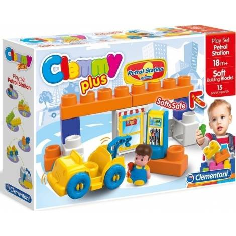 AS Company Clementoni Baby Clemmy Plus Petrol Station with Soft Building Blocks (1033-14877)