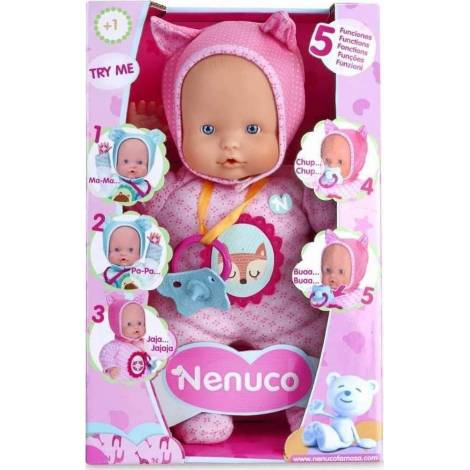 AS Company Nenuco - Doll with 5 Functions- Pink Clothes (20961)