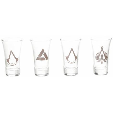 ASSASSIN'S CREED - 4xSET SHOT GLASS