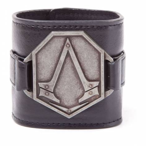 Assassin's Creed Syndicate - PU Wristband with Metal Logo Patch (WB051339ACS)
