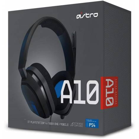 Astro A10 Gaming Headset Grey/Blue Jack 3.5mm PC,PS4,Xbox One,Mobile (939-001531)