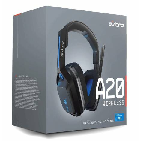 Astro A20 Wireless Gaming Headset Grey/Blue PC,PS4 (939-001562)