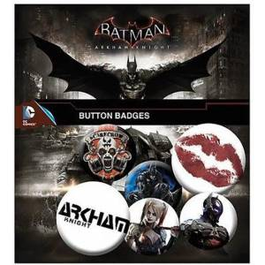 BATMAN ARKHAM KNIGHT PIN BADGE PACK (6 PINS)
