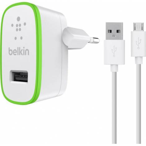 Belkin Home Charger & Micro USB Cable (10W/2.1A) (F8M667vf04-WHT)