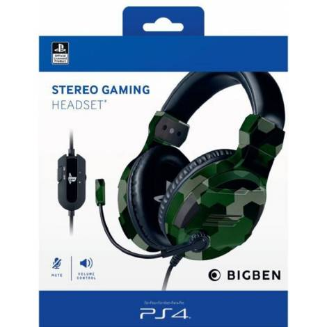 BIG BEN OFFICIAL LICENCE HEADSET V.3 GREEN (PS4)