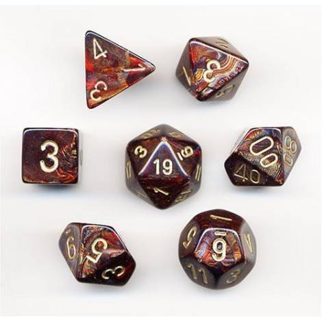 CHESSEX Blue Blood - Gold 7 Dice Set (CHX27419)