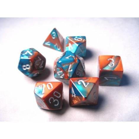 CHESSEX Copper-Teel-Silver 7 dice (CHX26453)