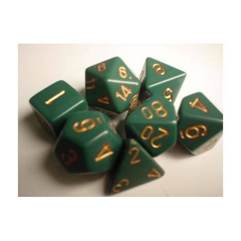 CHESSEX Dusty Green-Gold 7 dice (CHX25415)