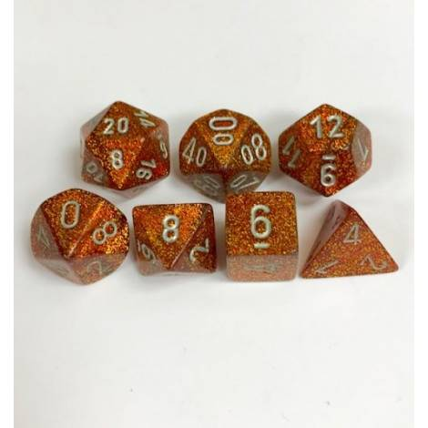 CHESSEX Gold w/silver 7 dice (CHX27503)