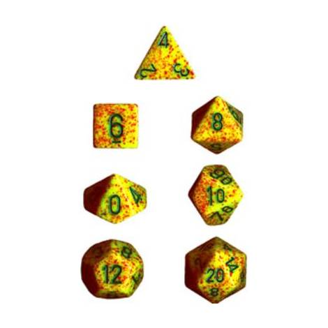 CHESSEX Spreckled Lotus 7 dice (CHX25312)