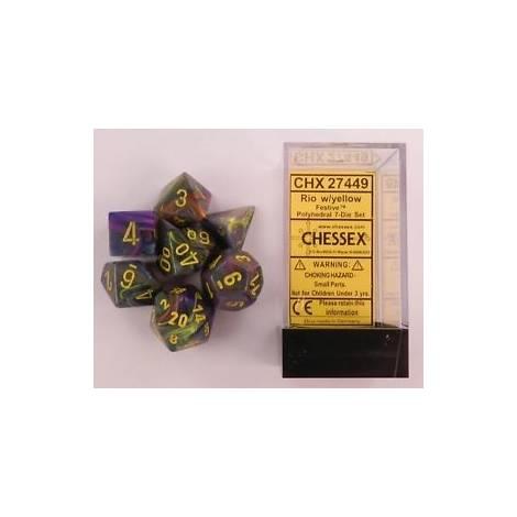 CHESSEX Rio-Yellow 7 dice (CHX27449)