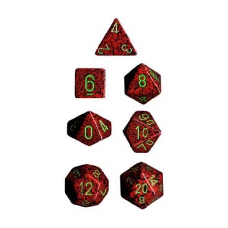 CHESSEX Spreckled Strawberry 7 dice (CHX25304)