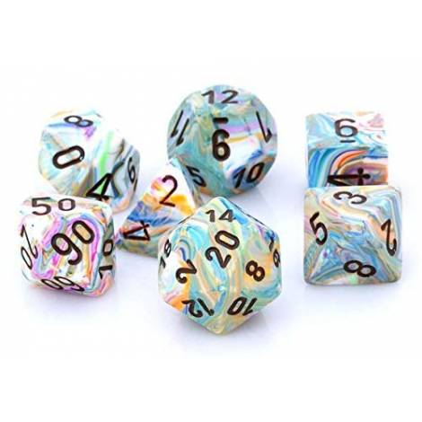 CHESSEX Vibrant- Brown 7 Dice Set (CHX27441)