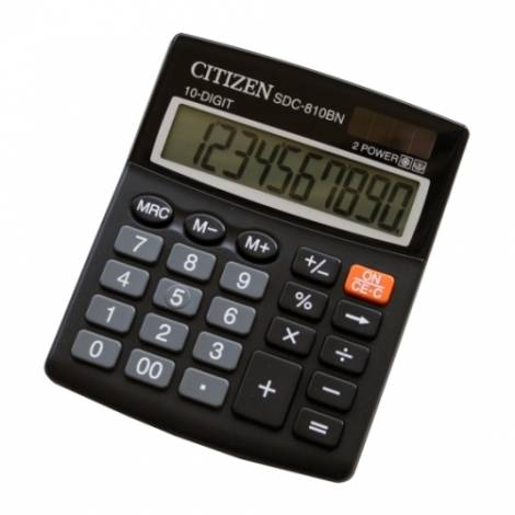 CITIZEN SDC810BN SEMI DESKTOP CALCULATOR