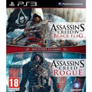 Compilation Assassin's Creed: AC 4 Black Flag & AC Rogue (PS3)