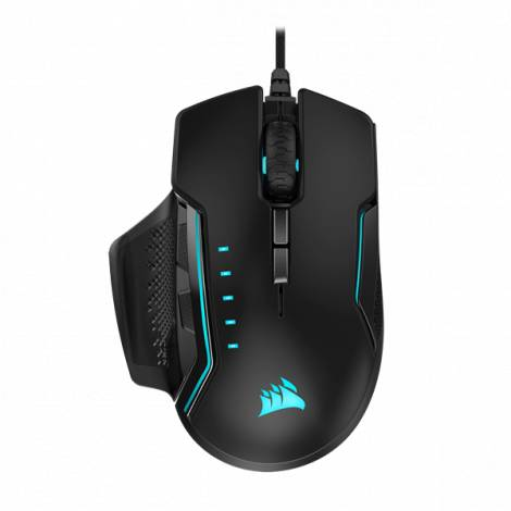 Corsair Glaive RGB Pro Wired Optical Gaming Mouse, 18000dpi, 7 Buttons, Aluminum (CH-9302311-EU)