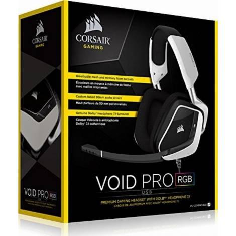 Corsair Headset Void Pro Usb - White (CA-9011155-EU)