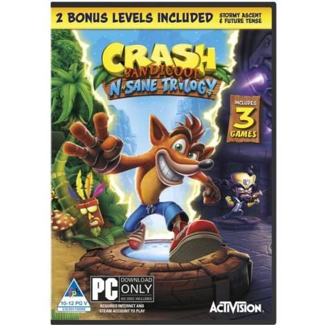CRASH BANDICOOT N'SANE TRILOGY (2 BONUS LEVEL INCLUDED) (CODE IN A BOX)  (PC)