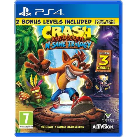 Crash Bandicoot : N'sane Trilogy V2 (Stormy Ascent & Future Tense - New Levels) (PS4)