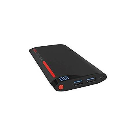 Cygnett 10000 mAh 2 Ports/2.1 A Charge Up Polymer Digital Portable Charger - Red/Grey