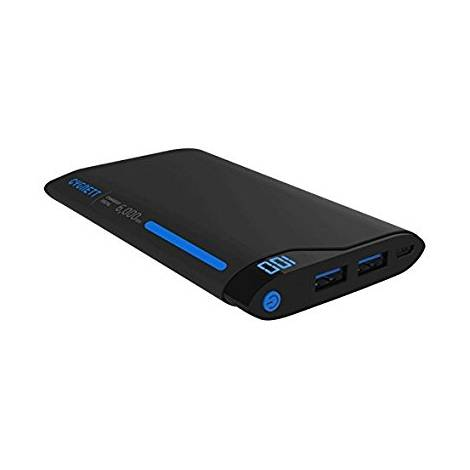 Cygnett 6000 mAh 2 Ports/2.1 A Charge Up Polymer Digital Portable Charger - Blue/Grey