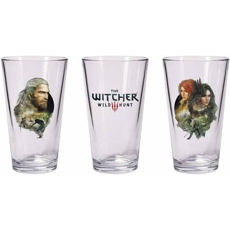 Dark Horse The Witcher 3: Wild Hunt - Geralt & Triss with Yeneffer Pint Glass Set (3000-238)
