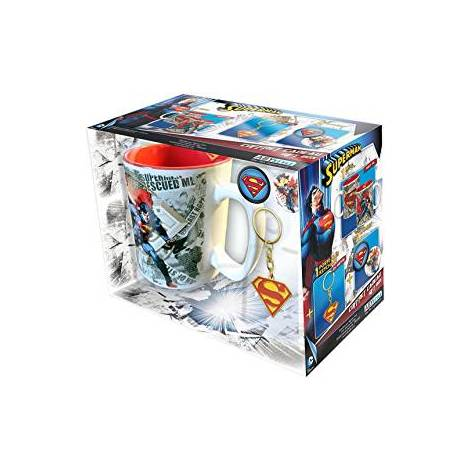 DC COMICS: SUPERMAN - 460ml MUG + KEYCHAIN + 2 BADGES GIFT BOX (ABYPCK074)