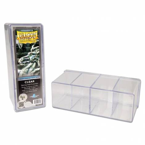 Dragon Shield: 4-Compartment Boxes Clear