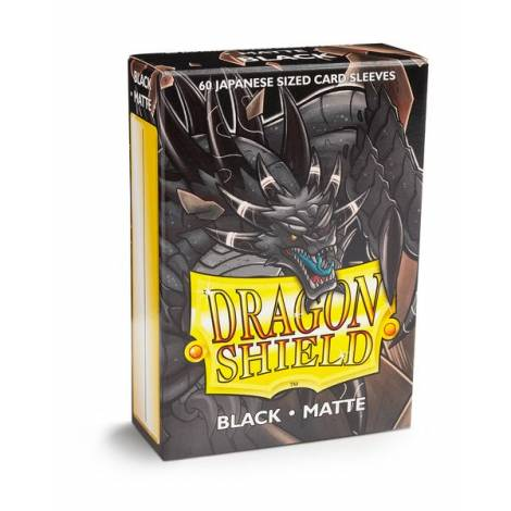 Dragon Shield – Japanese Matte Deck Protectors 60-ct Black
