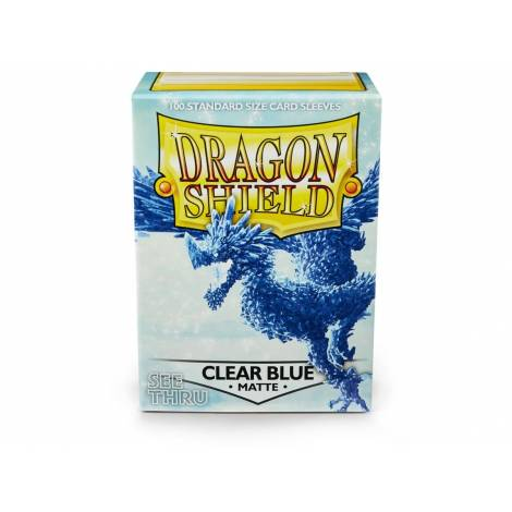 DRAGON SHIELD MATTE CLEAR BLUE 100-CT