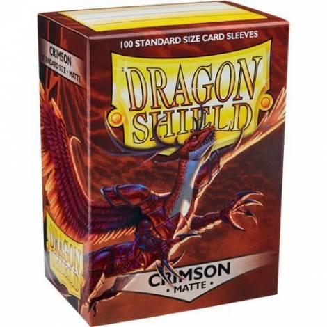DRAGON SHIELD MATTE CRIMSON 100-CT