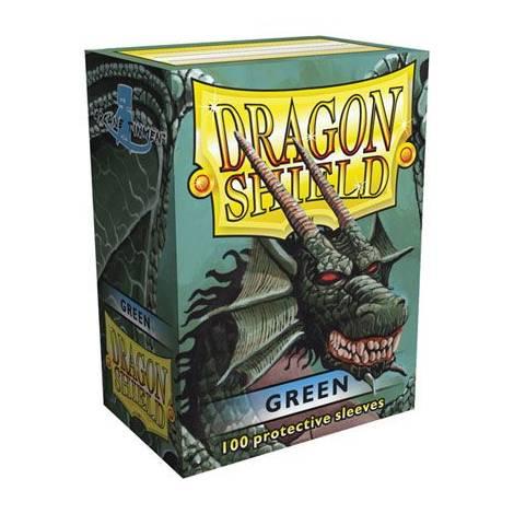 DRAGON SHIELD MATTE GREEN 100-CT