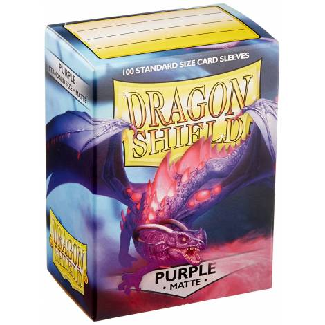 DRAGON SHIELD MATTE PURPLE SMALL 60-CT
